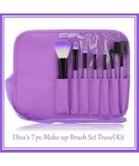 Divas 7 pc Make-up Blush Eye Shadow Liner Lip Mascara Brush Set Travel Kit - $18.95