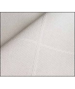 White Baby 18ct Afghan hemmed 24x37 100% cotton STS Crafts - $11.70