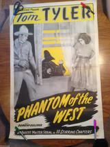 PHANTOM OF THE WEST Tom Tyler William Desmond Original Serial Movie Poster - $98.95