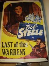LAST OF THE WARRENS Bob Steele Margaret Marquis Original Movie Poster RARE! - $74.20