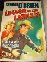 LEGION OF THE LAWLESS George O'Brien Virginia Vale Original Movie Poster... - $148.45