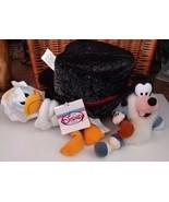 Disney Store Character Bean Bag Stuffed Plush Character Set Millennium 2000 - $16.69
