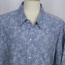 Hilo Hattie The Hawaiian Original Blue Floral Short Sleeve Casual Men Sh... - $23.38