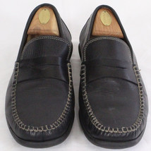 Johnston & Murphy Italy Men Black Penny Loafer Slip On Leather Shoe Sz 9... - $71.58 CAD