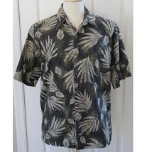 Hilo Hattie 100% Cotton Lawn Palm Aloha Camp Hawaii Men Shirt Size Large... - $23.38