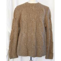 Express Men Hand Knit Wool Blend Sweater XL X-Large Light Brown Tan - $28.04