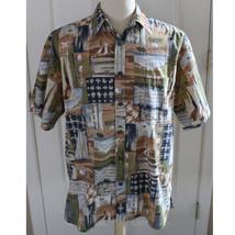 Cooke Street Honolulu 100% Cotton Camp Aloha Hawaiian Shirt Sz L Large Golf - $23.38