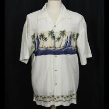 Hilo Hattie The Hawaiian Original 100% Rayon Shirt Sailboats Palm Ocean ... - $32.73