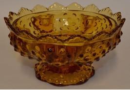 Fenton Art Glass ~ Amber Hobnail Candle Holder Bowl - $21.95