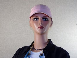 Pastel Pink Cotton Washed Twill Cap ~ Adjustable Fit ~ Breast Cancer Awa... - $8.77