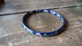 "2 5/8"" x 1/4"" Antique Cloisonne Chinese Bangle Bracelet - $26.73"