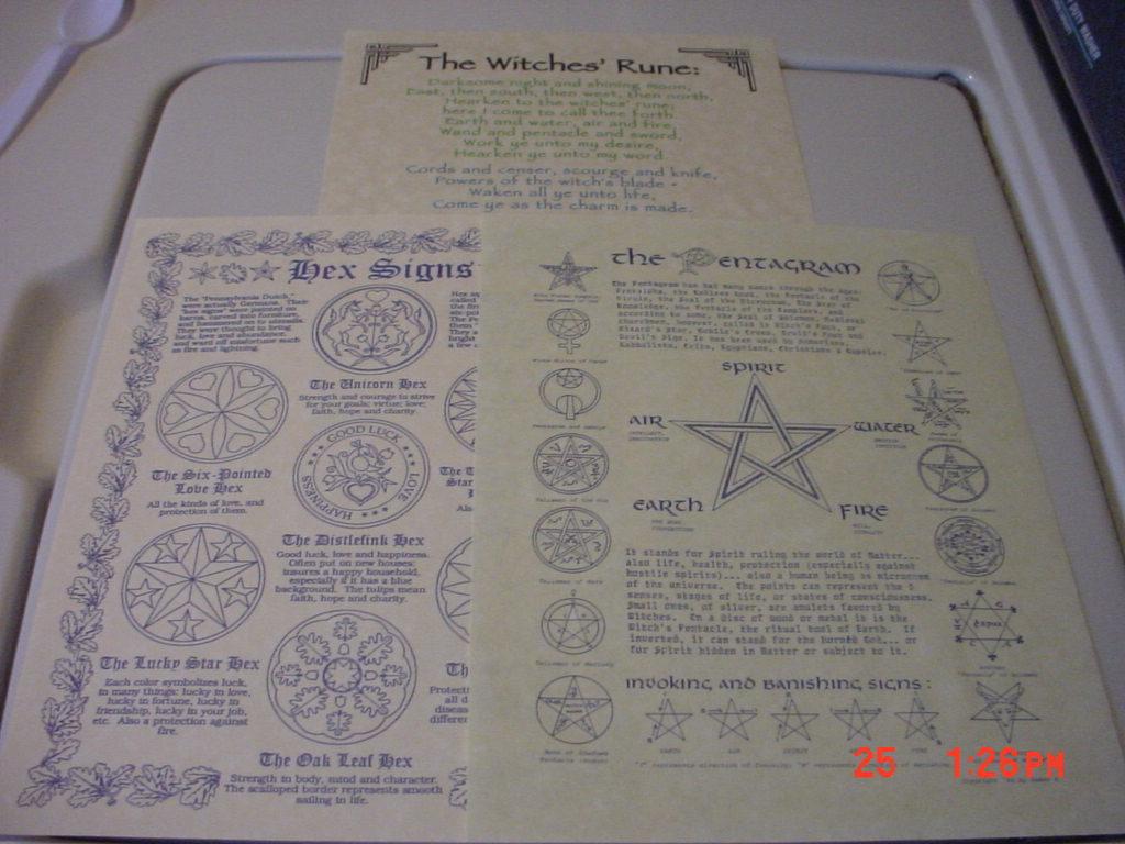 Pentagrams   hex sigins files 3