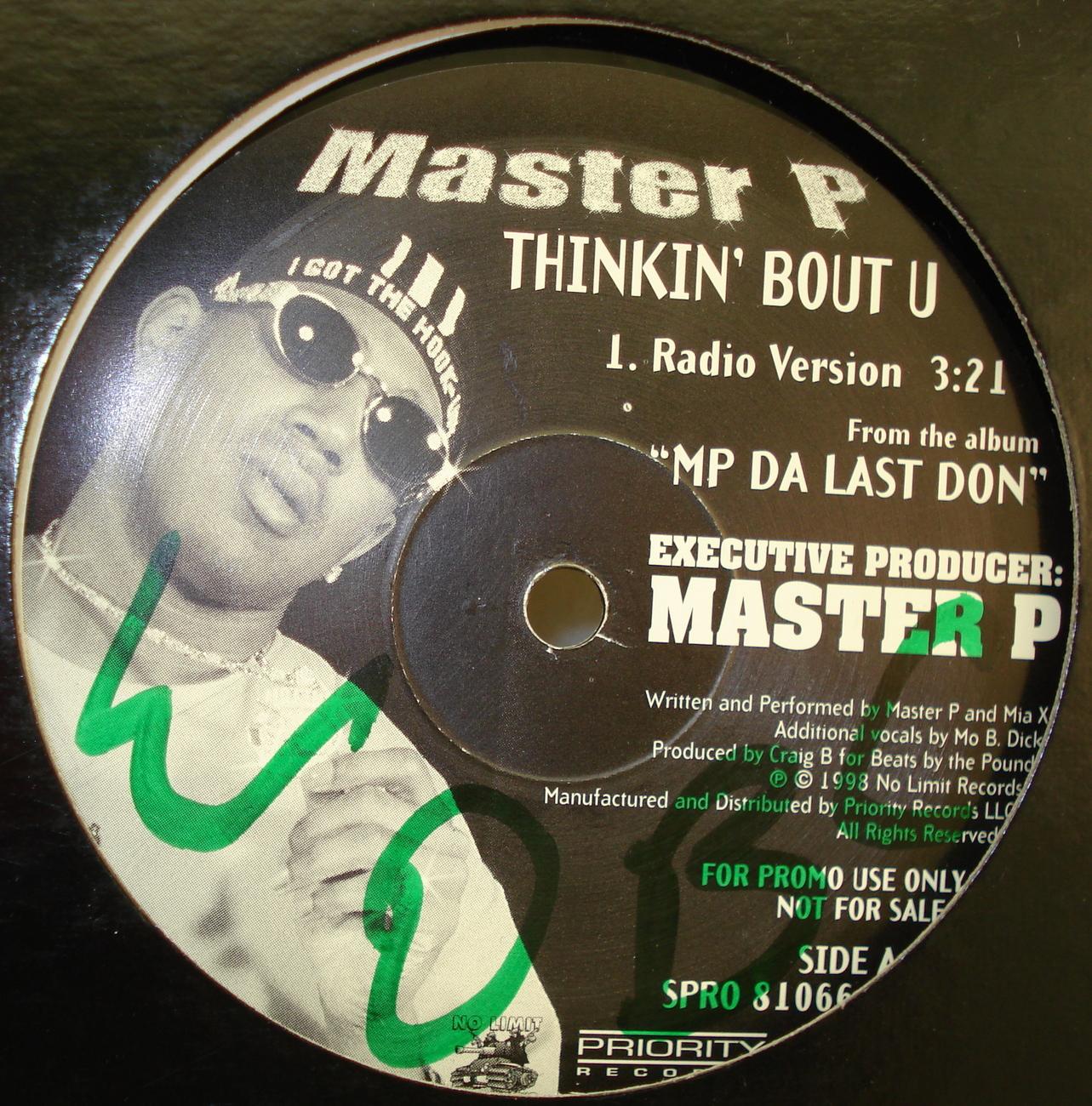 MASTER P-THINKIN' BOUT U from the album MP DA LAST DON ...