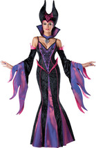 Dark Sorceress Adult Womens Costume Maleficent Sexy Gown Theme Party Hal... - $93.90
