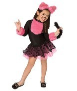 CUTIE CAT CHILD GIRLS COSTUME Kids Pink Black Dress Animal Theme Party H... - £21.63 GBP