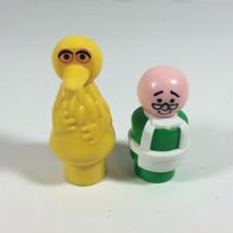 Vintage Fisher Price Little People Sesame Street Muppet Big Bird & Mr Ho... - $12.86