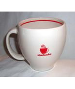 Starbucks 2004 Abbey White Red Band Steaming Coffee Mug Large 12 oz - $18.99