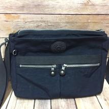 Kipling Handbag Angie Nylon Cross Body Blue Shoulder Strap - $59.39