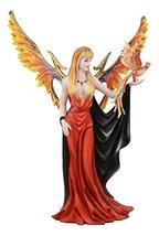 "Ebros Large Goddess of Fire Elemental Fairy with Blood Phoenix Avatar Statue 15"" - $71.27"