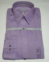 Van Heusen Men's Fitted Purple Color Shirt Size 16.5 34/35 - $17.99