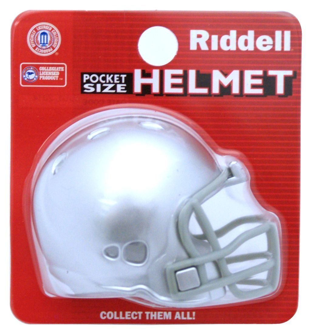 "2 OHIO STATE BUCKEYES POCKET PRO FOOTBALL HELMET 2"" SIZE  Made By RIDDELL!"