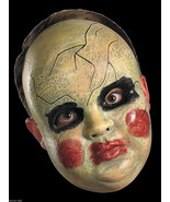 Creepy Horror Prop BABY DOLL FACE MASK Spooky H... - $9.87