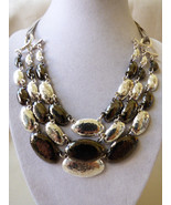 """Alfani Silver Two Tone oval links cascade chains necklace 19.5""""L - $31.68"""