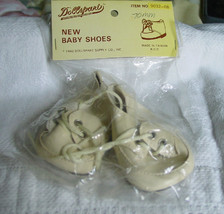 "Beige Vinyl Doll Shoes 3"" x 1 1/2"" NIP - $5.50"