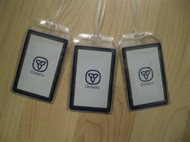 Ontario Canada Luggage Tags - Vintage Repurposed Playing Card Name Tag S... - $19.79