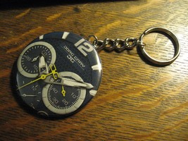 Jorg Gray Watch Keychain - Repurposed Advertisement Backpack Purse Clip ... - $10.88