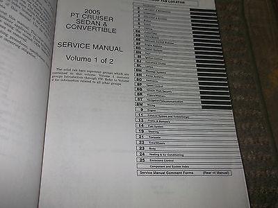 2005 Chrysler PT Cruiser Service Repair Shop Manual Set OEM FACTORY BOOKS