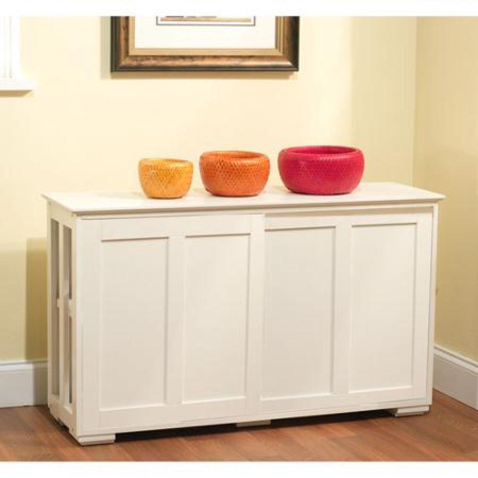 Storage Cabinet For Kitchen: White Kitchen Storage Cabinet Stackable Sliding Door Wood
