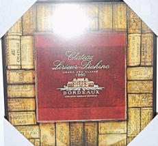 "Fabricator Created 2009 12"" Chateau Lirieur Bordeaux  Brown New Wall Pla... - $22.00"