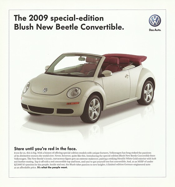 2009 Volkswagen NEW BEETLE BLUSH Edition sales brochure sheet US 09 VW