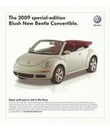 2009 Volkswagen NEW BEETLE BLUSH Edition sales brochure sheet US 09 VW - $8.00