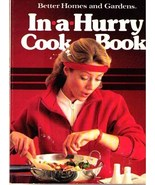 Better Homes and Gardens IN-A-HURRY Cook Book 1971 SC - $7.99