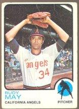 California Angels Rudy May 1973 Topps Baseball Card # 102 fair/good - $0.50