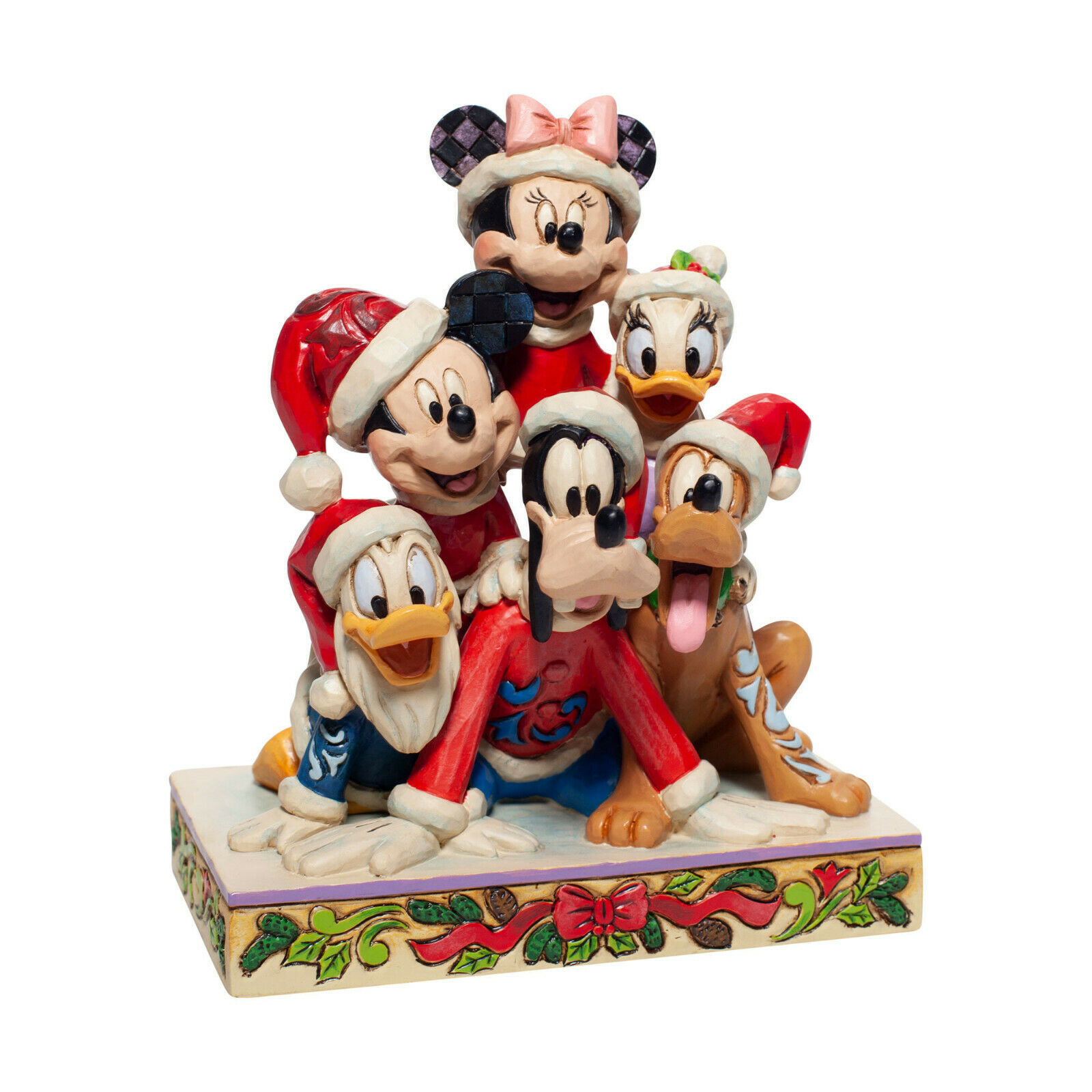 "Primary image for 6"" Stacked in a Holiday Pyramid -  Mickey & Pals Jim Shore Disney Traditions"