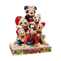 "6"" Stacked in a Holiday Pyramid -  Mickey & Pals Jim Shore Disney Tradit... - $98.99"