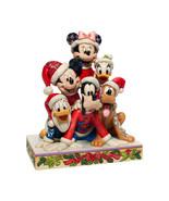 "6"" Stacked in a Holiday Pyramid -  Mickey & Pals Jim Shore Disney Tradit... - $98.99"
