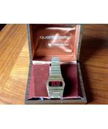 Vintage WESTCLOX Quartzmatic Mens LED RED Wrist... - $149.99