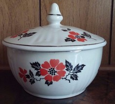 "Hall Superior Quality Kitchenware Red Poppy Jewel 5 1/4"" Covered Cassero... - $15.14"
