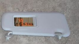 2010 MAZDA 3 RIGHT GRAY SUN VISOR WITH MIRROR