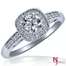 1.02 Carat (0.74) F-SI1/SI2 Round Cut Diamond Engagement Ring 14k Whiter Gold - $2,113.85
