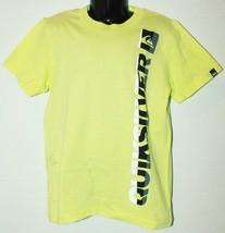 Quiksilver Logo Brand - Kids Tshirt Apparel Yellow Neon Shirt Youth Size 5 - $3.66