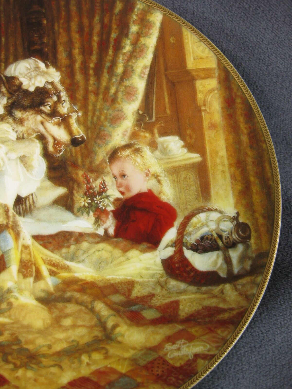 Little Red Riding Hood Collector Plate Classic Fairy Tales Scott Gustafson