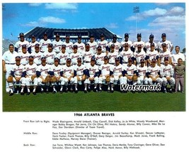 MLB 1966 Atlanta Braves Inaugural Team Picture Color 8 X 10 Photo Picture - $5.99