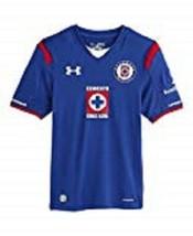 Under Armour Boys Cruz Azul Mexico Royal Blue Replica Short Sleeve Shirt... - $34.64