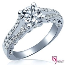 14K White Gold Vintage Round 1.14 Carat Diamond Engagement Ring (0.58) G-VS1/VS2 - $2,107.71