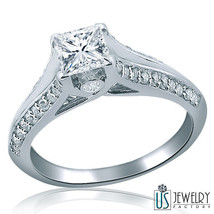 Vintage Style Princess Diamond Engagement Ring 14 K Gold 0.80 Carat (0.50) F/Vs 2 - $1,472.33